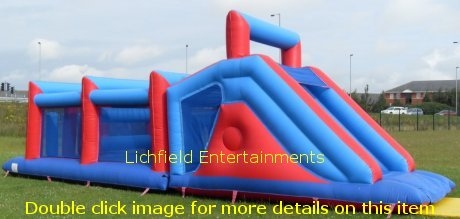 Inflatable Assault Course for hire for children and adults