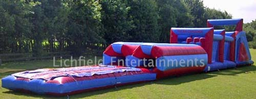 Inflatable Assault Course for hire for adults
