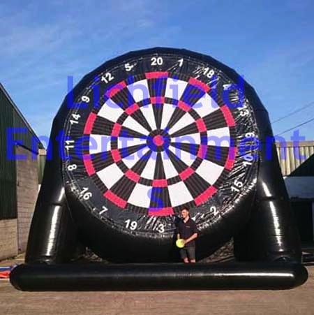 Giant inflatable Football Dartboard for hire