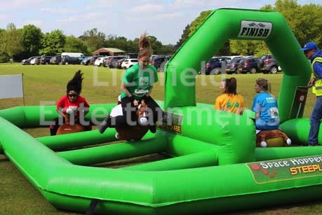 Inflatable horse racing game for hire for fun days and events