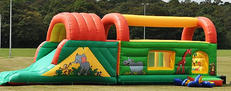 Jungle Run Inflatable Assault Course for hire
