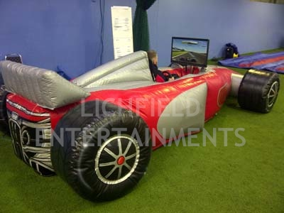 Inflatable F1 race simulator for hire. A great simulator for venues where access is an issue