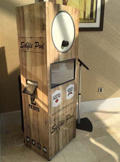 Selfie Pod photo booth hire for your Party, Reception, or Ball