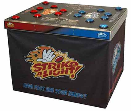 Strike a Light Reaction Speed game for hire