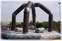 Wrecking Ball Inflatable Game hire - perfect for any Olympic theme event